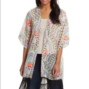 5 for $25| Steven Madden Scallop Fringe kimono
